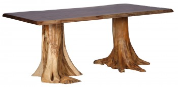 Rustic Double Stump Table