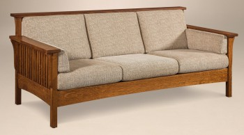 Highback Mission Slat Sofa