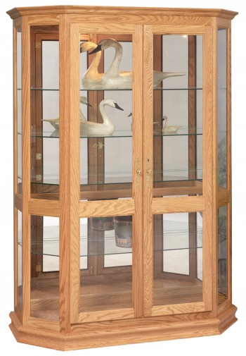 Angled Double Door Picture Frame Curio