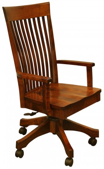 Rosewood Bent Paddle Desk Chair