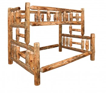 Lodge Pole Bunk Bed