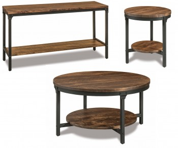 Houston Steel and Wood Occasional Tables