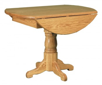 Country Pedestal Drop Leaf Table