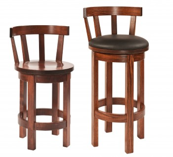 Barrel Swivel Barstool w/Meribeth Top