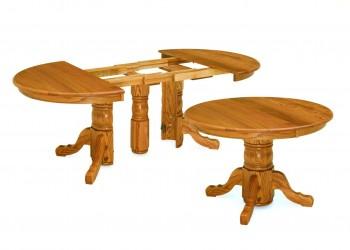 Split Pedestal Extension Table
