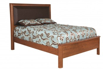 Meridean Leather Panel Bed