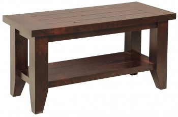 Plank Top Shoe Bench