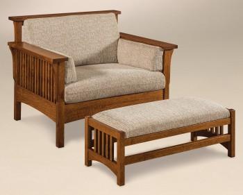 Highback Mission Slat Chair