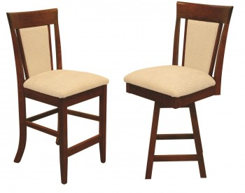 Rosewood Upholstered Bar-Chair