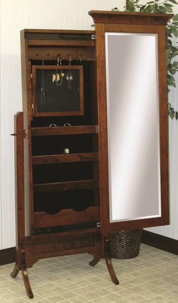 Arlington Jewelry Box Cheval Mirror