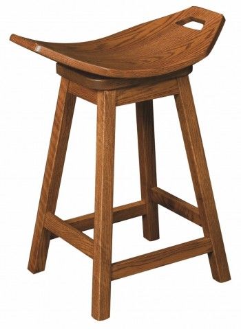 Mission Saddle Barstool
