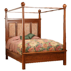 Marrakesh Canopy Bed w/Fabric