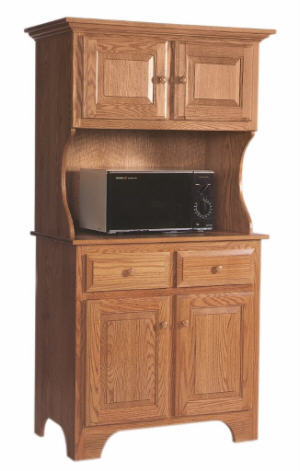 Microwave Cabinet with Hutch
