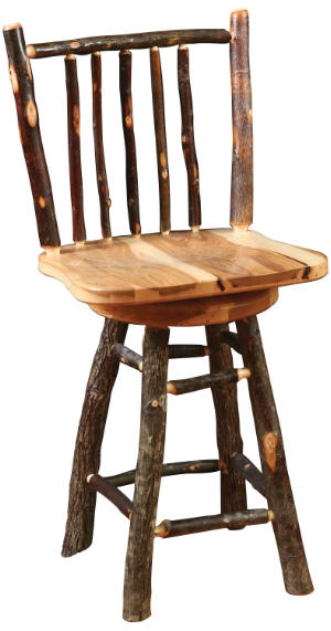 Rustic Hickory Barstool