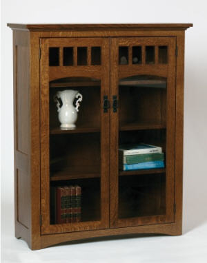 Mission Bookcase w/Doors