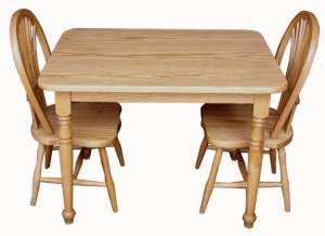 Child's Rectangular Table & Sheaf Chair