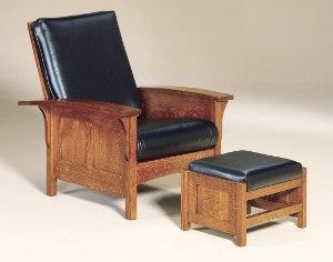 Bow Arm Morris Panel Chair