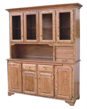4 Door Breadbox Hutch