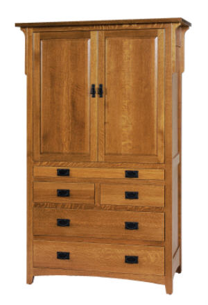 Mission Millcreek Tray Armoire