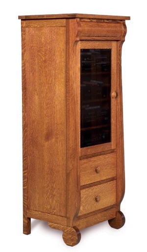 Old Classic Sleigh Stereo Cabinet