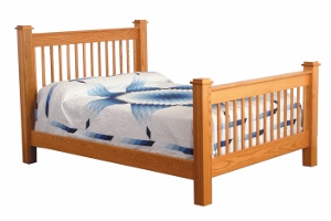 Heritage Mission Slat Bed