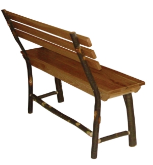 Hickory Bench w/Back