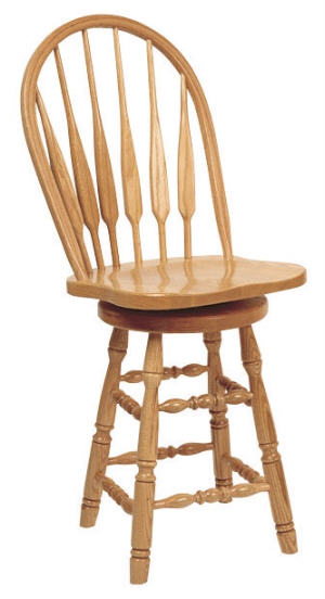 Feather Swivel Barstool