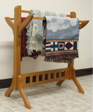 Mission Floor Quilt Rack