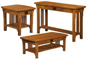 Craftsman Mission Open Occasional Tables