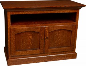 Shaker Flat Wall TV Stand w/DVD Area