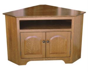 Knob View Shaker Corner TV Cabinet