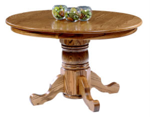 Americana Round Single Pedestal Table