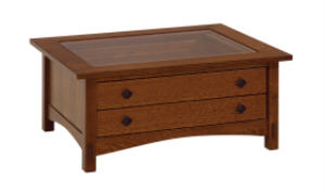 Springhill Cabinet Glass Top Coffee Table