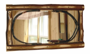 Hickory Framed Mirror