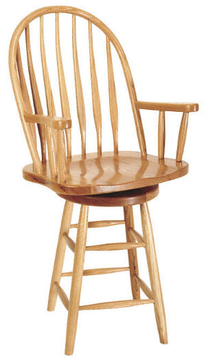 Bentback Swivel Barstool