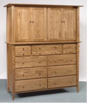 Sheffield Double Armoire Mule Chest