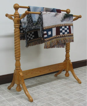 Rope Twist Quilt Rack