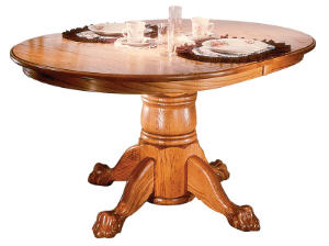 Oval Single Pedestal Table