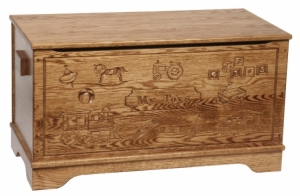 Carved Toy Chest