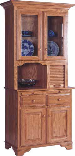 2 Door Breadbox Hutch