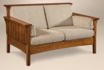 Highback Mission Loveseat  -  Cat No: 227-202HBSLF-117  -  Click To Order  -  ID: 2964