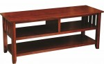 Century Mission Plasma TV Stand  -  Cat No: 504-PLW0142-88  -  Click To Order  -  ID: 9942
