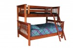 Miller's Mission Twin/Full Bunk Bed  -  Cat No: 550-MTF4458-100  -  Click To Order  -  ID: 9118