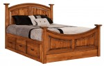 Highland Bed  -  Cat No: 550-HIQ-141  -  Click To Order  -  ID: 9784