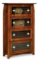 Boulder Creek Barrister Bookcase  -  Cat No: 455-FVBR4DRBC-107  -  Click To Order  -  ID: 8327