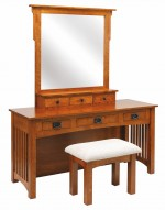 Mission Dressing Table  -  Cat No: 606-514MDT-47  -  Click To Order  -  ID: 9949