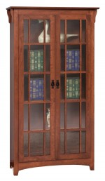 Mission Double Door Bookcase  -  Cat No: 455-GO-3311-9  -  Click To Order  -  ID: 7214