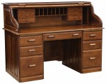 Traditional Rolltop Desk  -  Cat No: 451-TR3060-73  -  Click To Order  -  ID: 10001