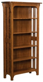 Craftsman Mission Bookcase  -  Cat No: 455-CRAFB72-115  -  Click To Order  -  ID: 9598