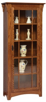 Mission Single Door Bookcase  -  Cat No: 455-GO-3305-9  -  Click To Order  -  ID: 7210
